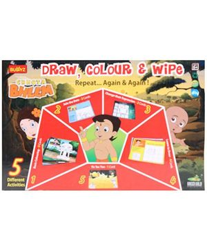 Chhota Bheem DIY Draw Color And Wipe Kit
