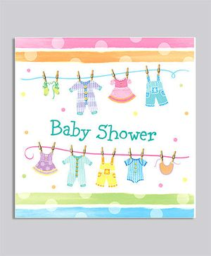 Baby Clothes Luncheon Napkins