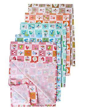 Tinycare Plastic Diaper Changing Sheets Medium - Set Of 5