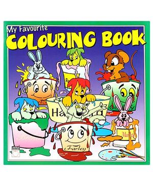 Apple Books My Favourite Colouring Book Green - English