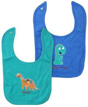 FS Mini Klub Bibs Blue And Green Dino Print - Set of 2
