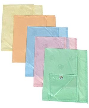 Tinycare Plastic Bed Protector Sheets Plain Large - Set Of 5