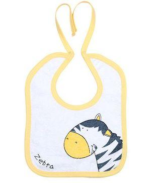 Child World Bib Zebra Print - Yellow