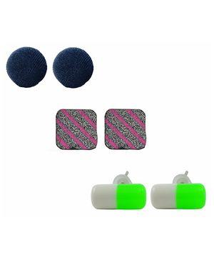 Angel Glitter Earrings - Set of 3