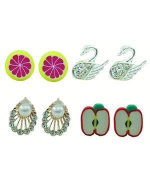 Angel Glitter Earrings - Set of 5