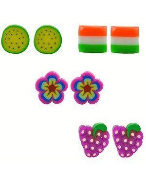 Angel Glitter Earrings - Set Of 4