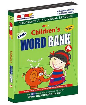 MAS Kreations Childrens Word Bank-A DVD - English And Hindi