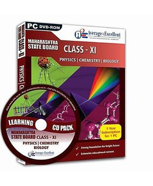Average2Excellent DVD Class XI Combo Pack - Maharashtra State Board