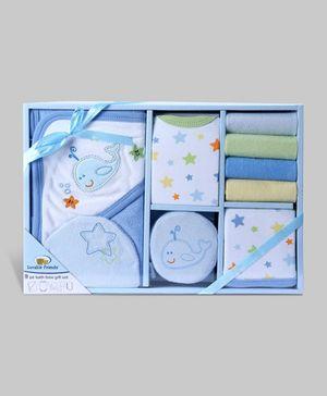 Blue 9 Piece Bath Time Gift Set