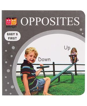 Smile Books Babys First Opposites - English