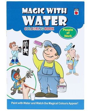 Apple Books Magic With Water Colouring Book - People At Work