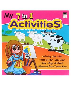 Apple Books My 7 in 1 Activities Book - Pink