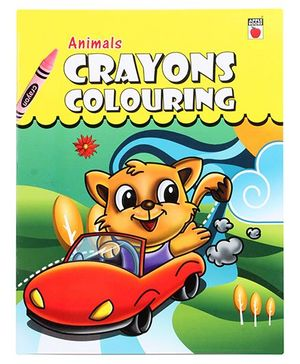 Apple Books Crayons Colouring - Animals