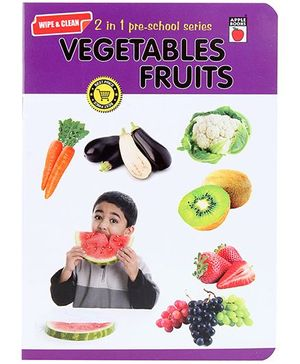 Apple Books Wipe And Clean - Vegetables And Fruits