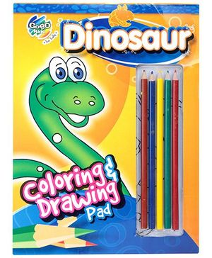 Chitra Coloring And Drawing Pad - Dinosaur