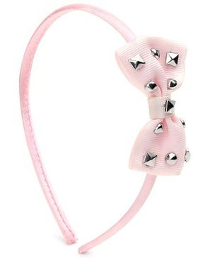 Addon Hair Band Bow Applique - Light Pink