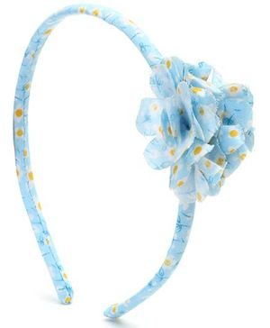 Addon Hair Band Floral Applique - Blue