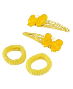 Addon Hair Clip With Rubber Band - Yellow