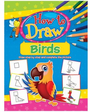 Dreamland Coloring Book How To Draw Birds Book 2 - English