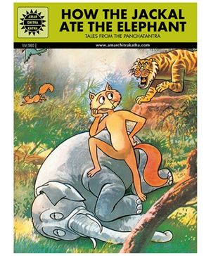 Amar Chitra Katha How The Jackal Ate The Elephant - English