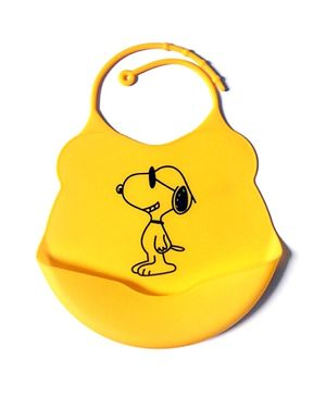 Glitter Art Silicone Bib Puppy - Yellow