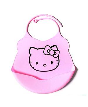 Glitter Art Silicone Bib Catty - Pink