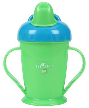 1st Step Spill Proof Cup With Handle Green - 180 ml