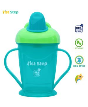 1st Step Spill Proof Cup With Handle Blue - 180 ml