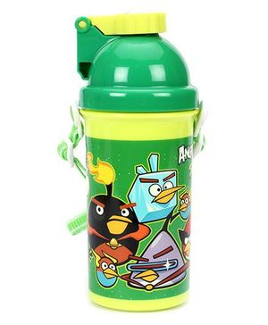 Angry Bird Space Water Bottle Green - 500 ml