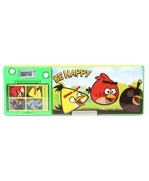 Angry Birds Magnetic Pencil Box With Notepad - Green