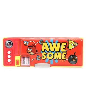 Angry Birds Magnetic Pencil Box Four Function - Red