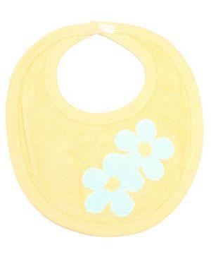 Child World Bib Yellow - Floral Print