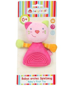 BabyFehn Grabber Cat With Soft Teether