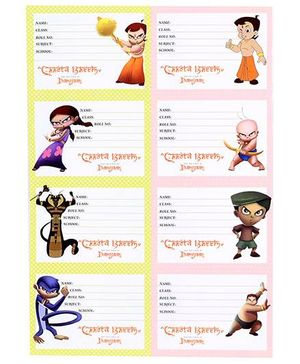Chhota Bheem And The Curse Of Damyaan Labels Multi Color - 2 Sheets