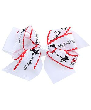 Stol'n Hair Clip Bow Design White - Micky Mouse