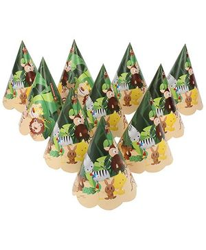 Karmallys Party Caps Jungle Print - Pack of 10