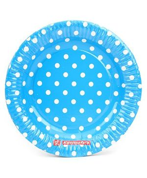 Karmallys Paper Plates Polka Dot - Pack of 10