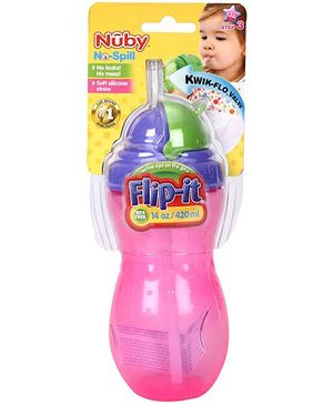 Nuby No Spill Flip It Cup - 420 ml