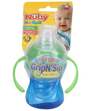 Nuby No Spill Grip N Sip Cup - 240 ml