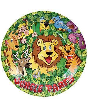 Birthdays & Parties Paper Plates Jungle Theme - 10 Pieces