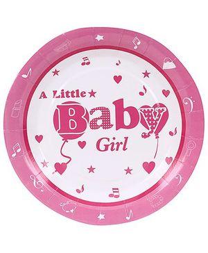Birthdays & Parties Plates Baby Girl Print - 10 Pieces
