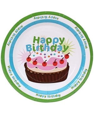 Birthdays & Parties Plates Happy Birthday Print - 10 Pieces