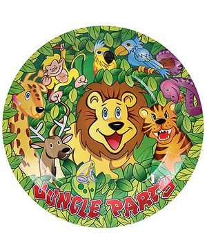 Birthdays & Parties Paper Plates Jungle Theme - 10 Pieces