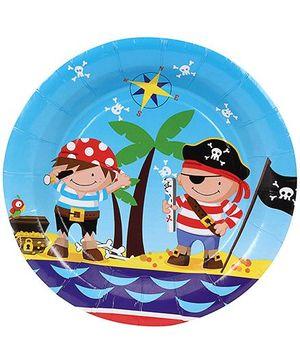 Birthdays & Parties Plates Pirates Theme - 10 Pieces