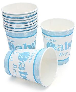 Birthdays & Parties Paper Glass Baby Boy Theme - 10 Pieces