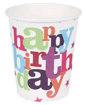 Birthdays & Parties Paper Glass Birthday Theme - 10 Pieces