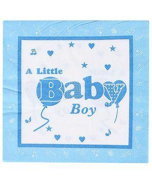Birthdays & Parties Paper Napkins Baby Boy Theme - 10 Pieces