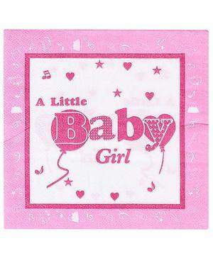 Birthdays & Parties Paper Napkins Baby Girl Theme - 10 Pieces