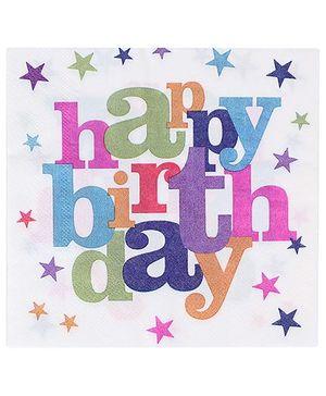 Birthdays & Parties Paper Napkins Birthday Theme - 10 Pieces