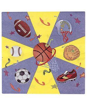 Birthdays & Parties Paper Napkins Sports Theme - 10 Pieces